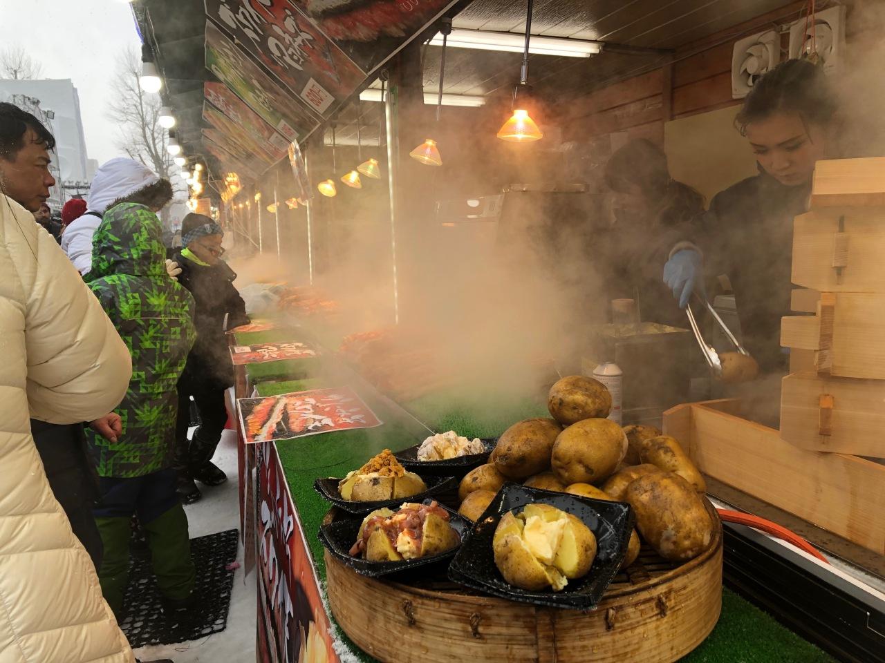 Hot potatoes in Sapporo