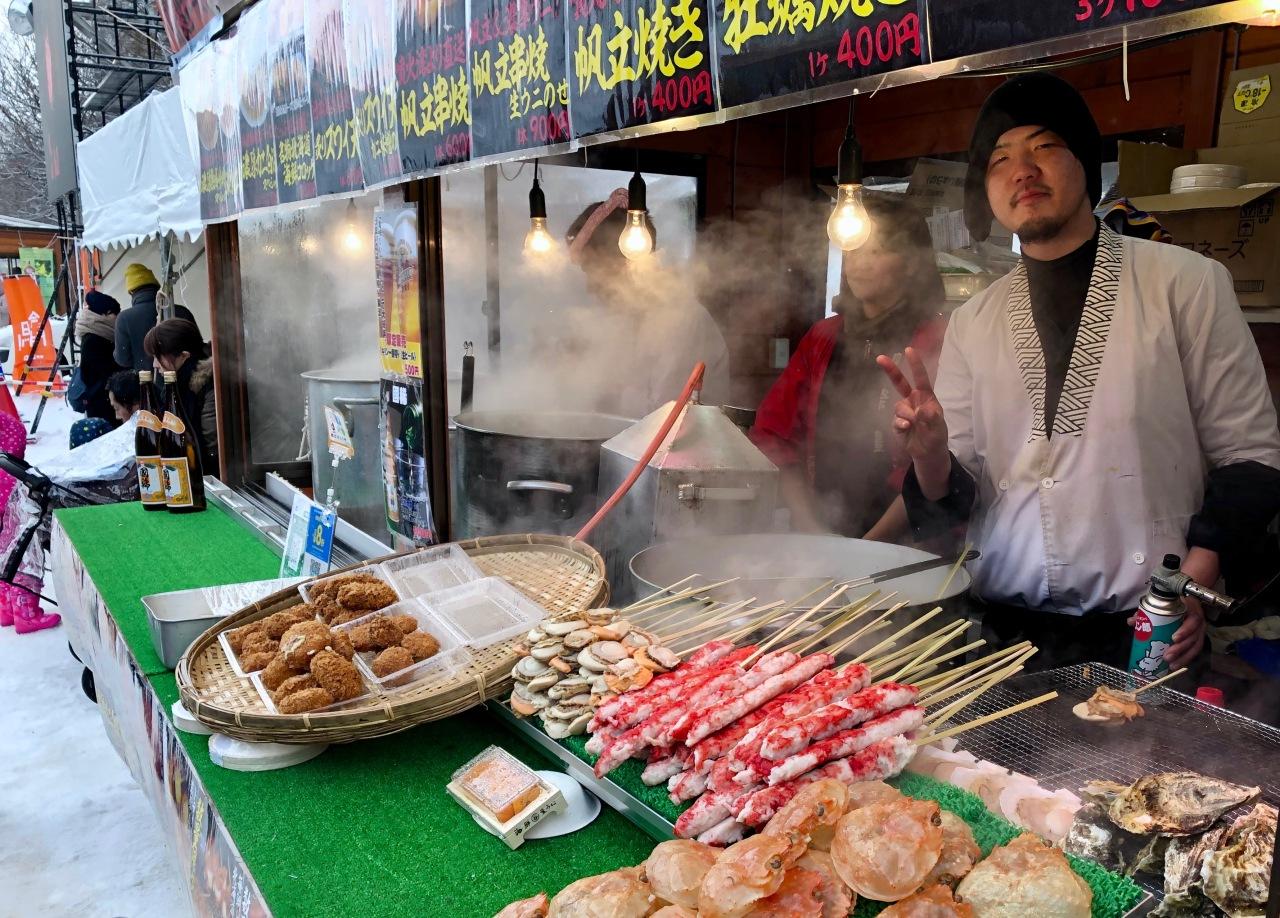 Street food in Sapporo.