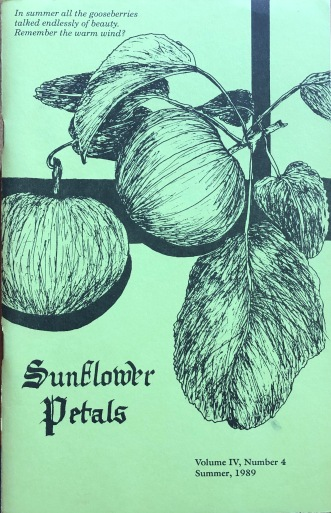 Sunflower Petals. Vol. IV, #4, Summer 1989