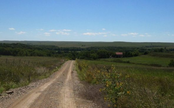 A Typical Kansas Gravel Road