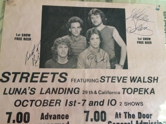 Streets Concert Flyer circa 1980.