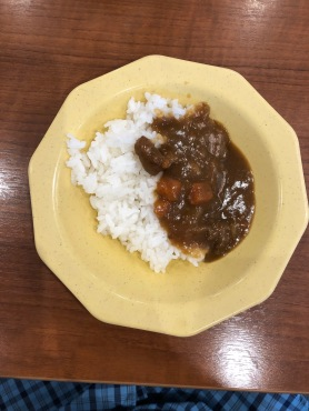 Curry and rice.