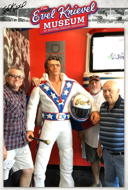 Me, Brian, and Larry. The family honoring Evel Knievel! Topeka, Kansas May 2019.