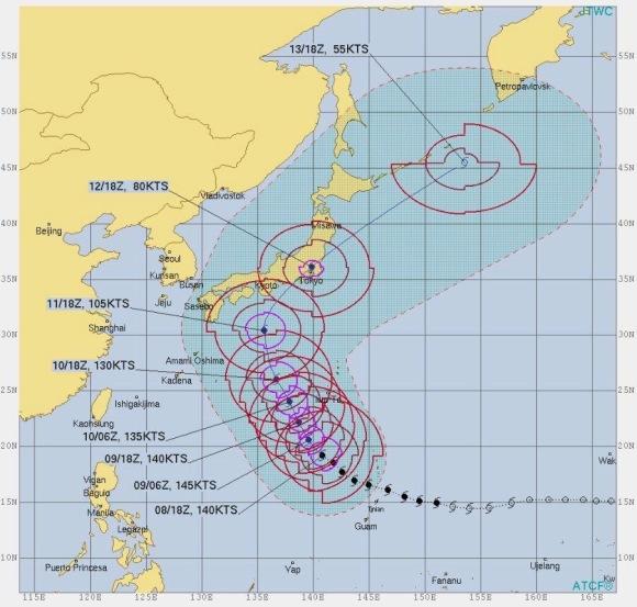 Typhoon Hagibis Path